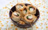 Maki-Wrap au poulet, tomates séchées et roquette