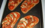Bruschetta tomate mozzarella & ses petits oignons