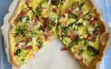 Quiche aux lardons, brocolis et amandes
