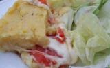 Gratin de polenta, tomate & mozzarella