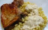 Filet de porc au bleu et aux noisettes