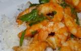 Crevettes thaï aux pousses d'épinards
