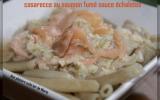 Casarecce au saumon fumé sauce échalotes