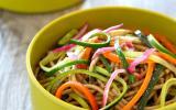 """Spaghettis à l""""épeautre et filaments de légumes"""