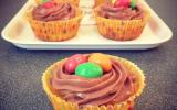 Cupcakes aux m&m's maison