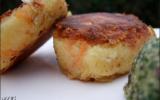 Croquettes de crabe et carottes et pesto de mesclum