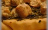 Tatin saumon épinards