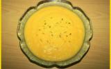 Crème de carottes au boursin maison