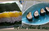 Makis au thon et orange