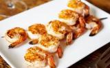 Brochettes de crevettes au piment d'Espelette