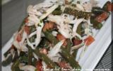 P'tite salade tiède haricots verts et effilochée de raie