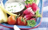 Dip et légumes