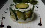 Timbale de saumon aux courgettes et au fromage frais