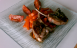 Côtes d'agneau et carottes à l'orange