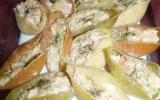 Pâtes gratinées farcies au saumon, ricotta et poireaux