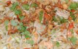 Crevettes sautées à la coriandre et germes de soja
