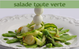 Salade toute verte et sauce verte