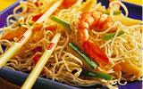 Nouilles aux asperges et crevettes