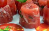 Mini-aspics de tomate à l'agar-agar