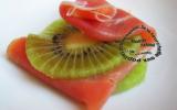 Bouchées de jambon cru et kiwi  pour l'apéritif