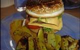 Hamburgers maison et potatoes épicées