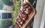 Tartine à l'italienne mozza jambon fumé
