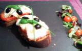 Tartine à la tomate et mozzarella