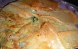 Pastilla de courgettes au chèvre