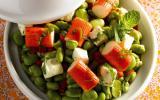 Salade de fèves parfumée à la menthe et aux bâtonnets Saveur Coraya