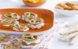 Pragmatiques abricots secs farcis au bretzel croquant