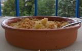 Crumble de pommes flambées au cognac mélasse de châtaigne