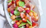 Salade de Melon et Fruits Rouges au Jambon cru