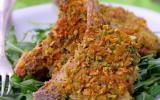 Côtes d'agneau en croûte de pistaches grillées, estragon et Pecorino