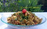 Pilaf de riz & lentilles aux épices