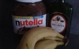 Crêpes à la banane flambée au rhum, Negrita et Nutella