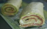 Gâteau roulé au saumon et sauce tzaziki