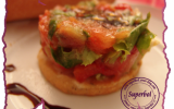 Tartare de légumes sur sablés de parmesan