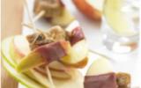 Brochettes de pommes, figues et magret de canard