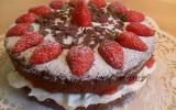 Génoise chocolat fraises chantilly