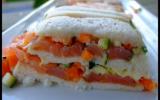 Pain moelleux de saumon fumé aux légumes