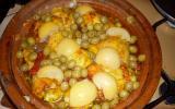 Tajine de poulet aux olives et aux citrons confits