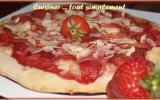 Pizza Fraises - Amandes