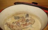 Filet mignon de veau aux morilles