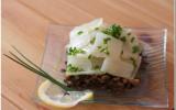 Salade de blettes et de lentilles, vinaigrette au citron et basilic