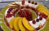 Savarin à la panacotta et gelée de fruit