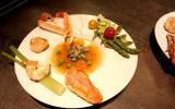 Assiette de la mer, légumes croquants et gelée de crustacés