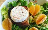 Salade au fromage de Rocamadour à la clémentine