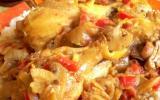 Poulet Massalé au poivrons et champignons !