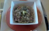 Le risotto lardons champignons