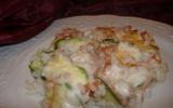Gratin de courgettes crémeux au riz et thon